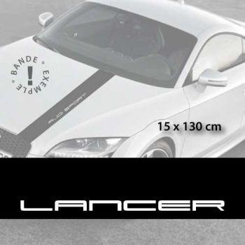 Mitsubishi Lancer car hood decal strip