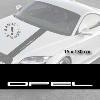 Opel car hood decal strip