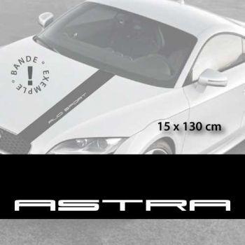 Opel Astra car hood decal strip