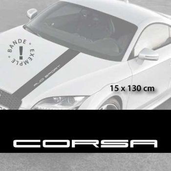 Opel Corsa car hood decal strip