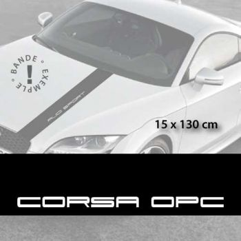 Opel Corsa OPC car hood decal strip