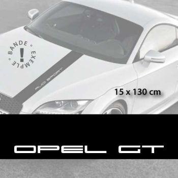 Opel GT car hood decal strip