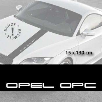 Opel OPC car hood decal strip