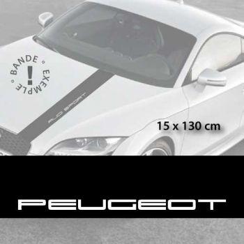 Stickers bandes autocollantes Capot Peugeot