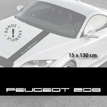Stickers bandes autocollantes Capot Peugeot 208
