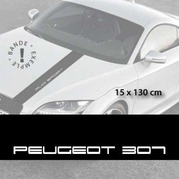Stickers bandes autocollantes Capot Peugeot 307