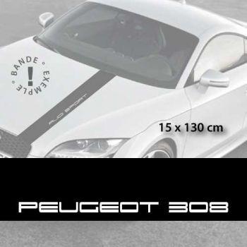 Stickers bandes autocollantes Capot Peugeot 308