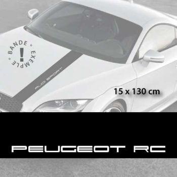 Stickers bandes autocollantes Capot Peugeot RC