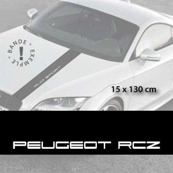 Stickers bandes autocollantes Capot Peugeot RCZ