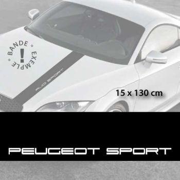 Stickers bandes autocollantes Capot Peugeot Sport