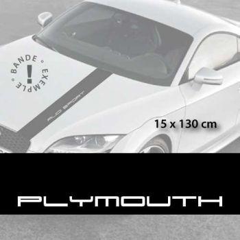 Stickers bandes autocollantes Capot Plymouth