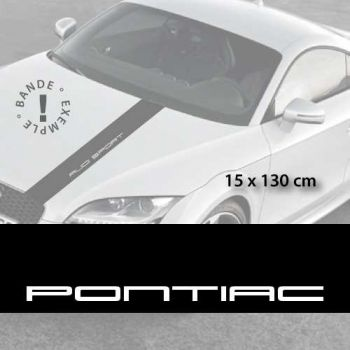 Stickers bandes autocollantes Capot Pontiac