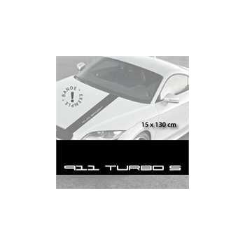 Stickers bandes autocollantes Capot Porsche 911 Turbo S
