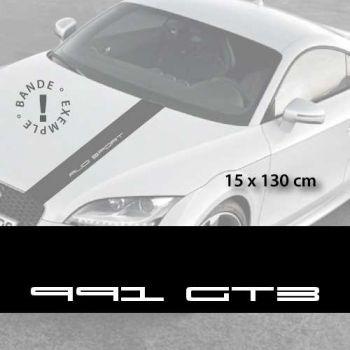 Stickers bandes autocollantes Capot Porsche 991 GT3