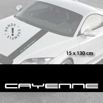 Porsche Cayenne car hood decal strip
