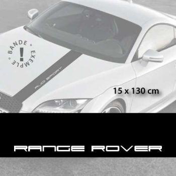 Stickers bandes autocollantes Capot Range Rover