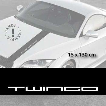 Renault Twingo car hood decal strip