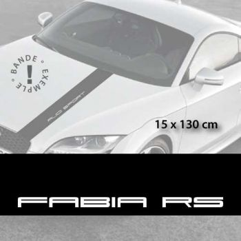 Skoda Fabia RS car hood decal strip