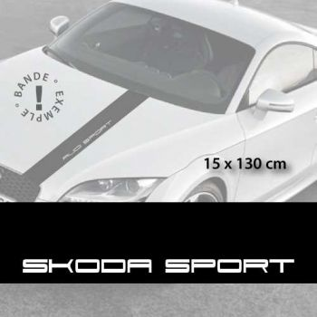 Skoda Sport car hood decal strip