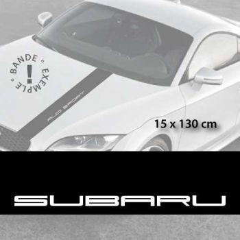 Stickers bandes autocollantes Capot Subaru