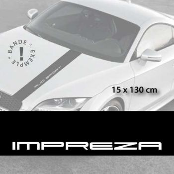 Subaru Impreza car hood decal strip