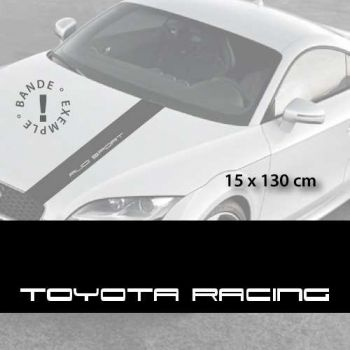 Toyota Racing car hood decal strip