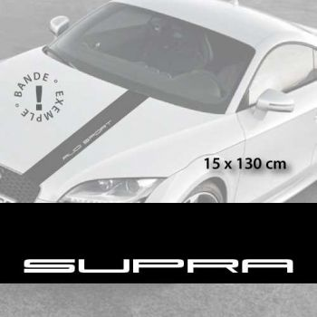 Toyota Supra car hood decal strip