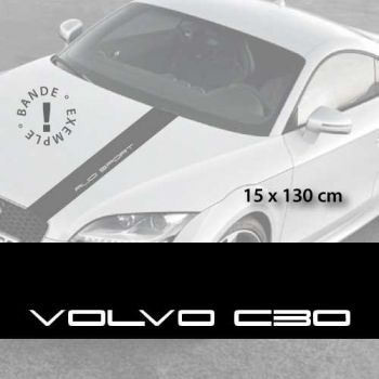 Volvo C30 car hood decal strip