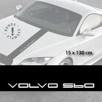 Volvo S60 car hood decal strip