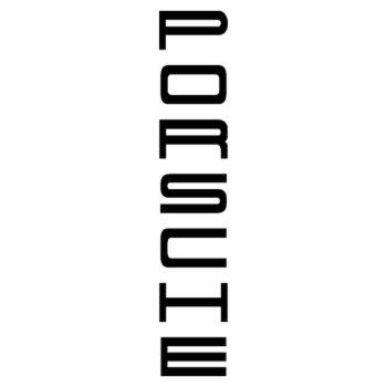 Sticker Porsche vertical logo