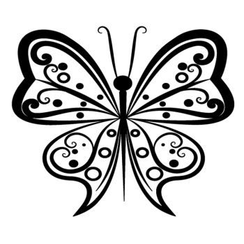 Sticker Schmetterling Design