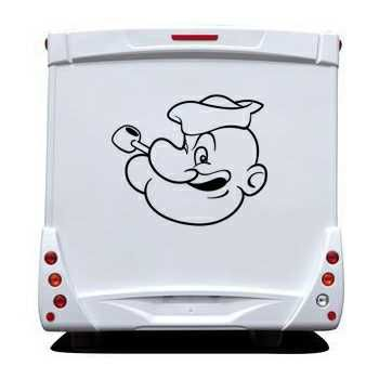 Sticker Camping Car Visage Popeye