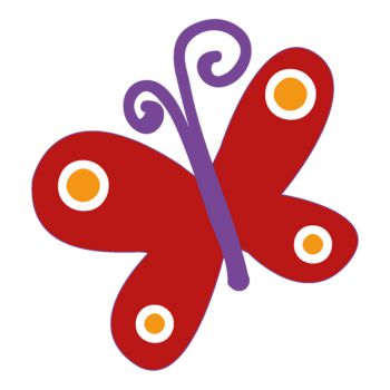 Red Butterfly decal