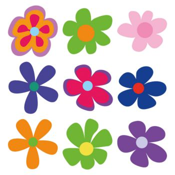 Kit Stickers Deko Blumen