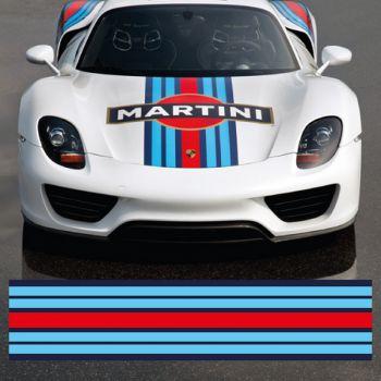 Martini car strip decal