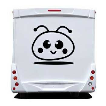 Sticker Camping Car Smiley Cartoon