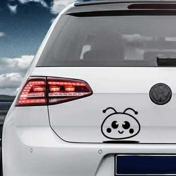 Smiley Cartoon Volkswagen MK Golf Decal