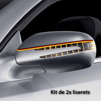 Germany car rear-view mirror stripes decals set