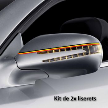 Belgium car rear-view mirror stripes decals set