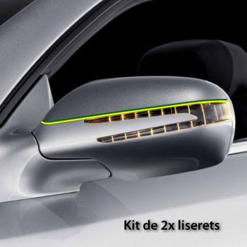 Brazil car rear-view mirror stripes decals set