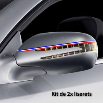 Kit Stickers Bandes Liserets Rétroviseurs France