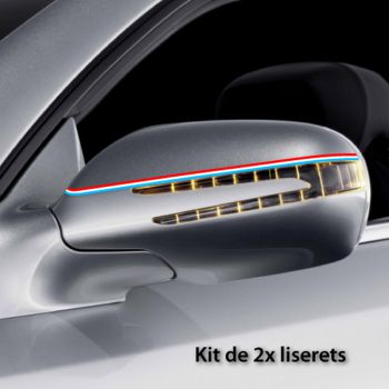 Luxemburg car rear-view mirror stripes decals set