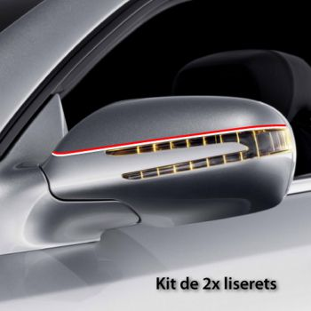 Switzerland car rear-view mirror stripes decals set