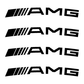 AMG Mercedes wheels decals set