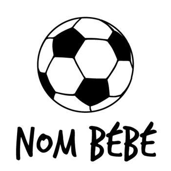 Soccer Ball Baby on board car custom decal