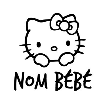 Sticker Bébé à Bord Hello Kitty (Nom à Personnaliser)