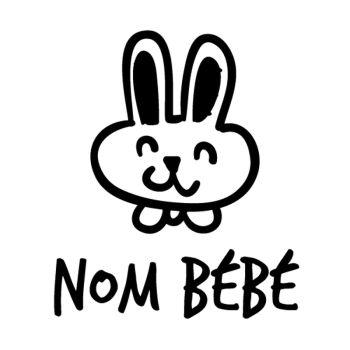 Rabbit Baby on board car custom decal