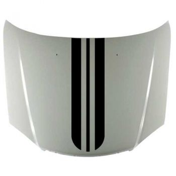 Car rounded stripe with Edging in the center decal