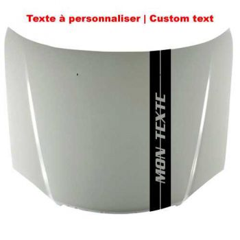 Custom Text Viper Car Stripe Decal