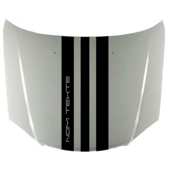 Custom Text Porsche Style Car Hood Stripe Decal